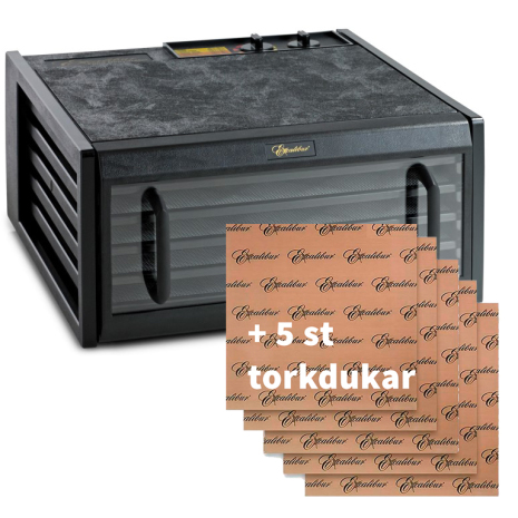Excalibur 5-brickor, glasdörr + 5 torkdukar (Webbkurs ingår)