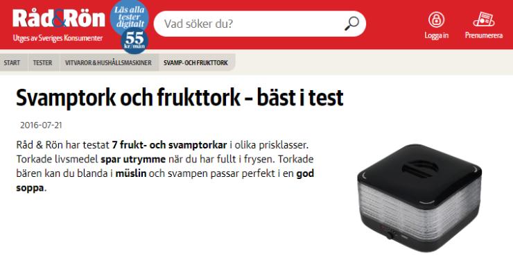 RÅD & RÖN - TEST AV MATTORKAR